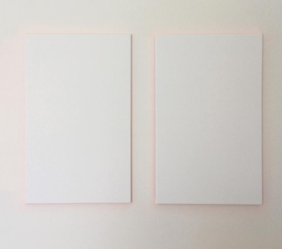 Espacio CxL-reflejos-1583. Gesso on canvas, 2x 60x40 cm.